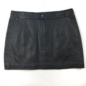 Hot Leathers black leather mini skirt Size 5/6